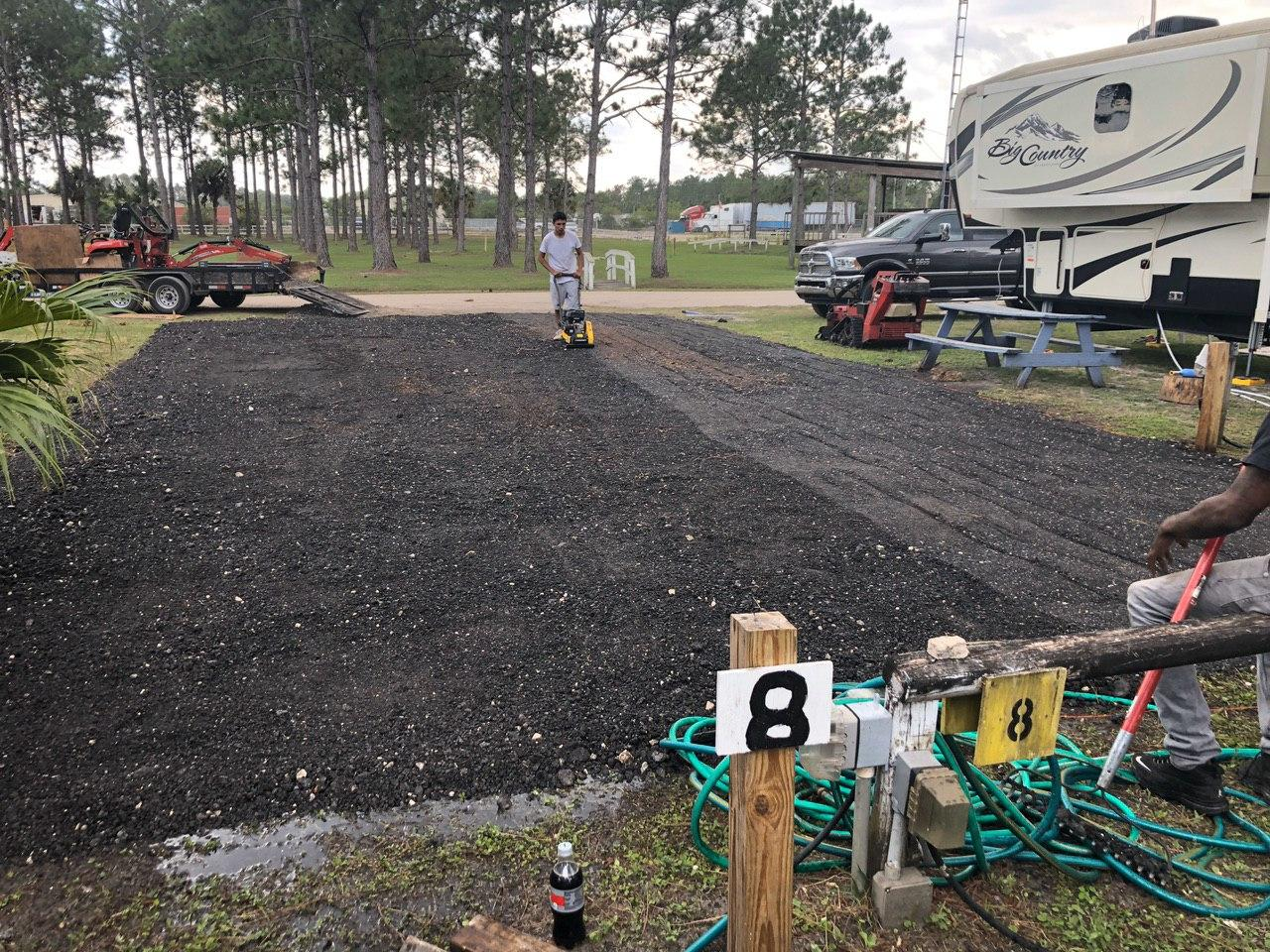 rv park parking spot resurfacing